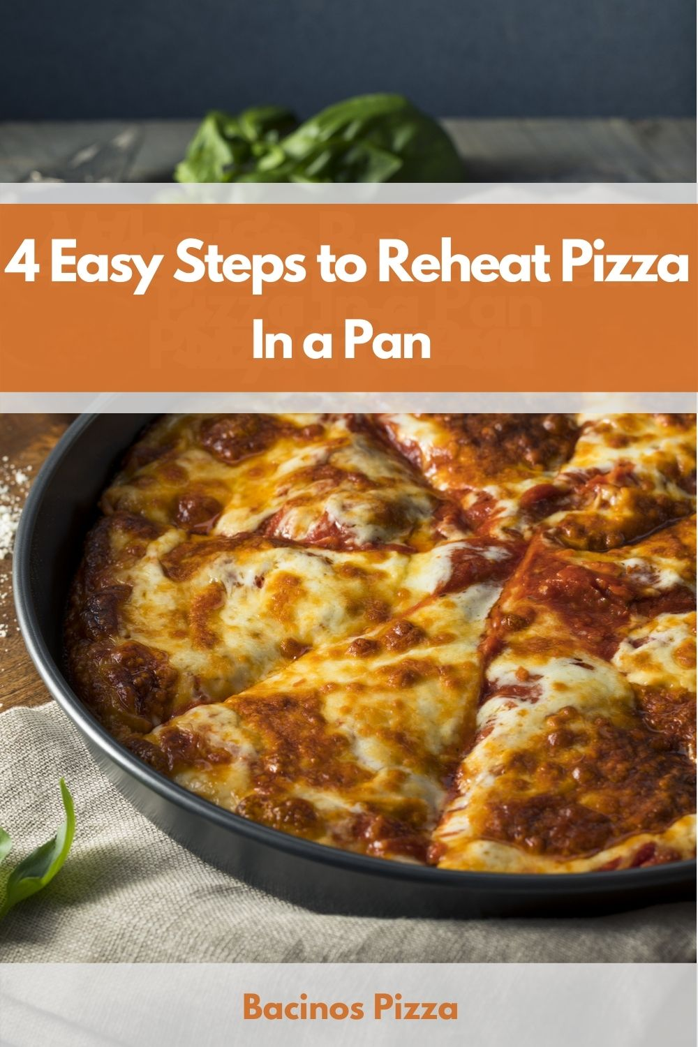 4 Easy Steps to Reheat Pizza In a Pan pin 2