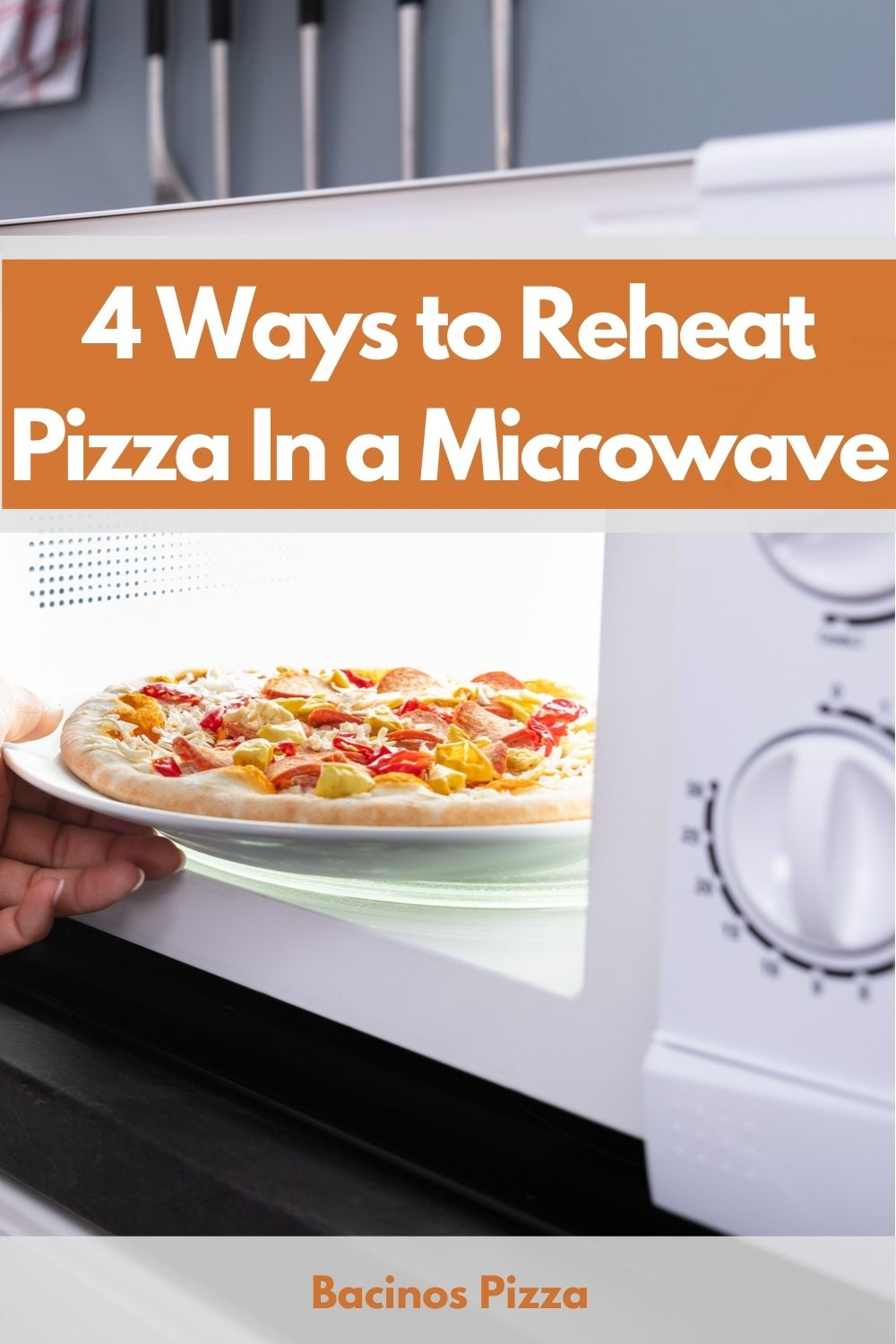 4 Ways to Reheat Pizza In a Microwave pin 2