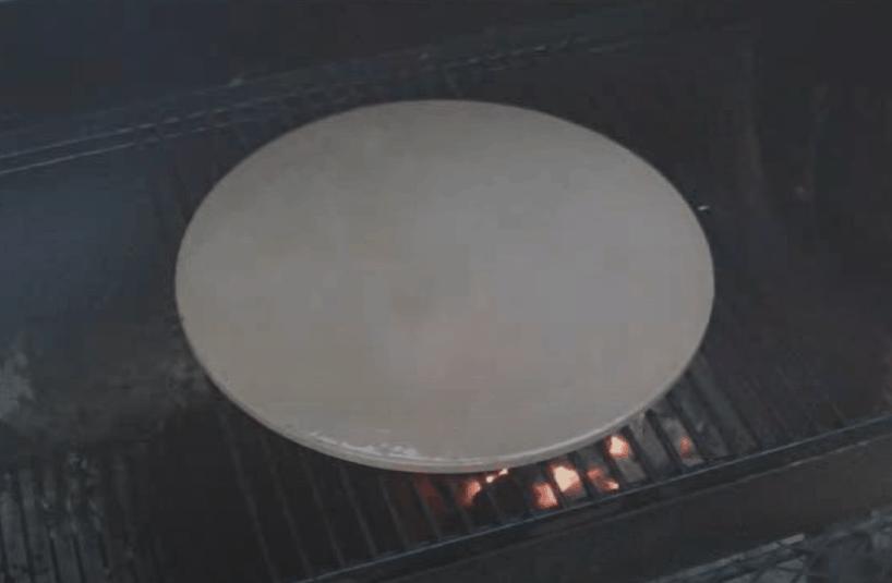 Bake the pizza stone