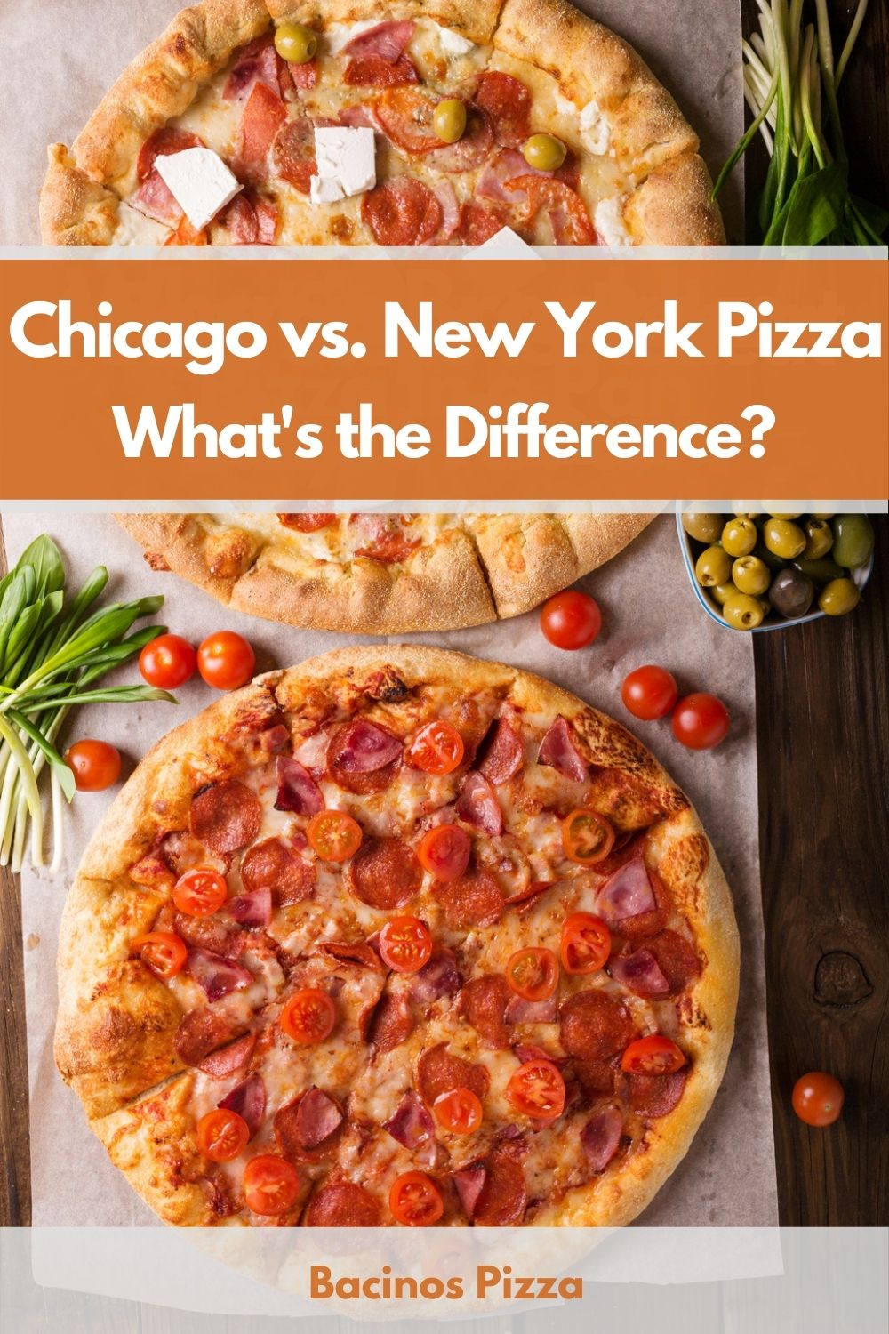 Chicago vs. New York Pizza What's the Difference pin