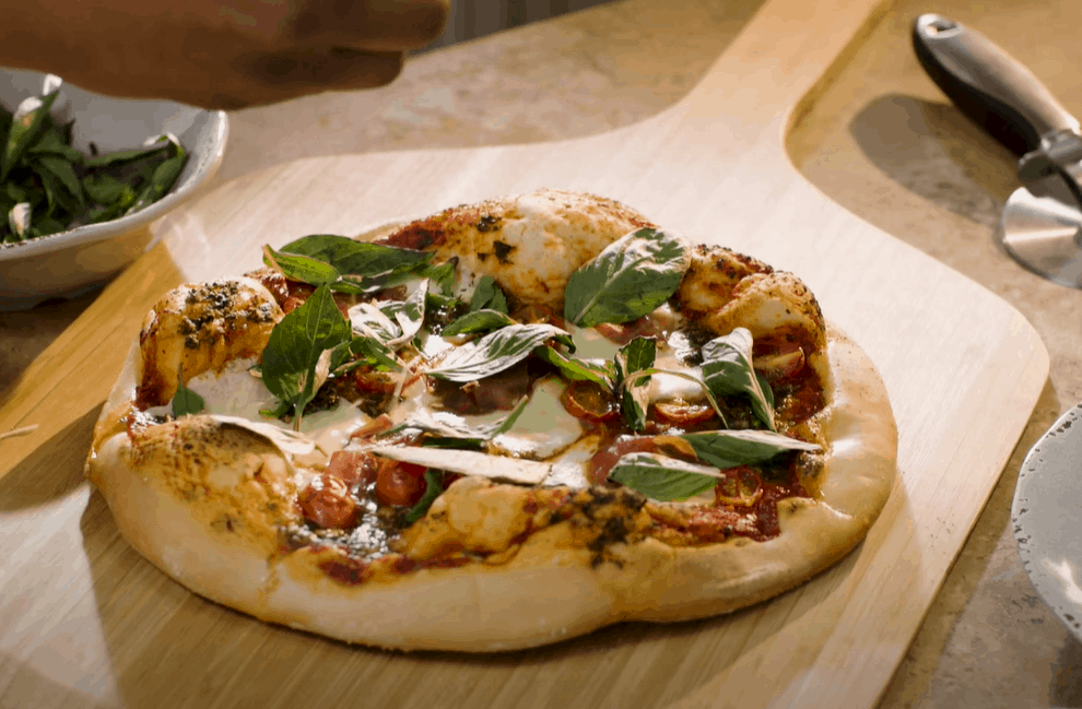 Leave the Pizza Stone On the Grill to Cool