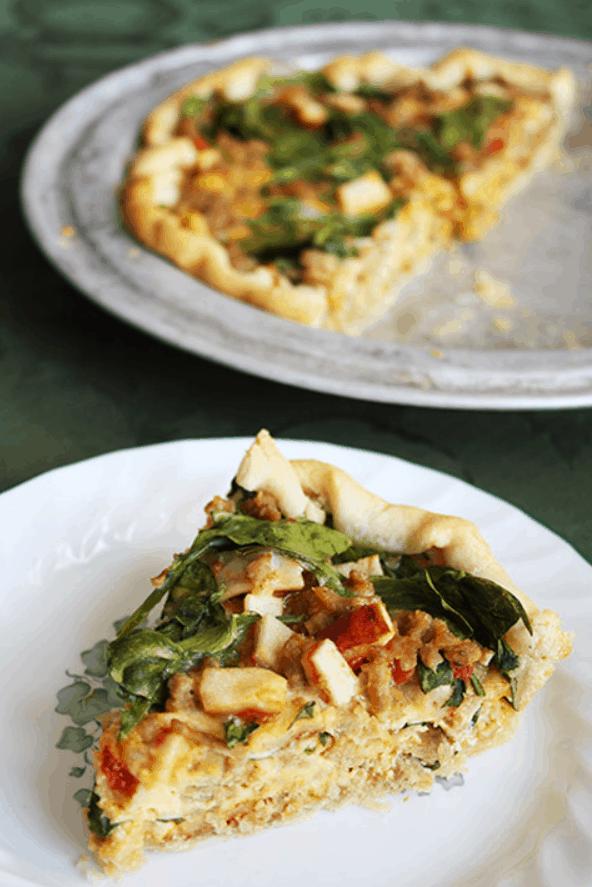 Leftover Pizza Quiche