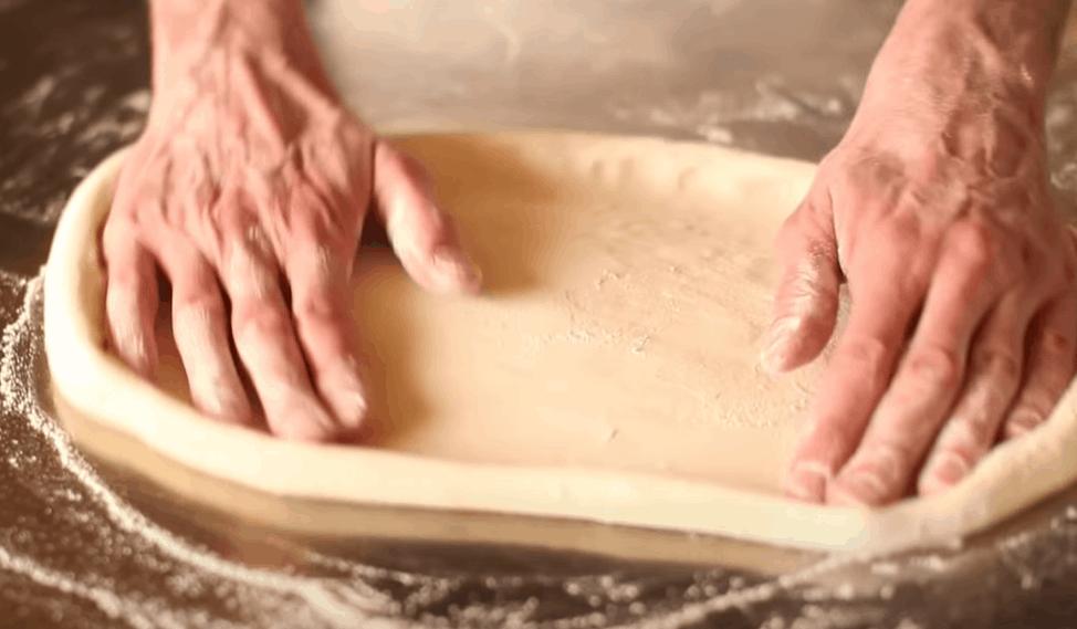 Slap the dough