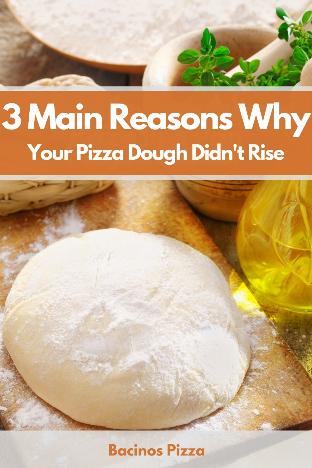 3 Main Reasons Why Your Pizza Dough Didn't Rise pin