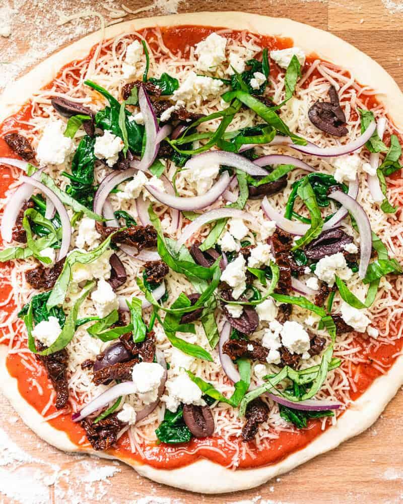 A Couple Cooks Mediterranean Pizza
