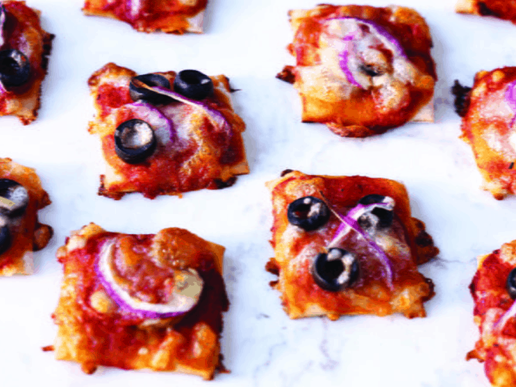 Almost Bite-Sized Pizzas