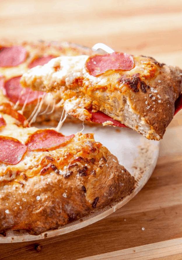 Buttery Pretzel Crust Pizza