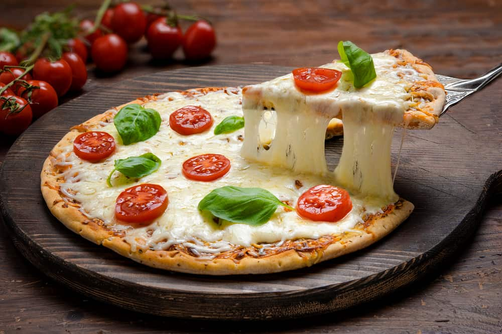 Calories in Tomato and Cheese Homemade Pizza