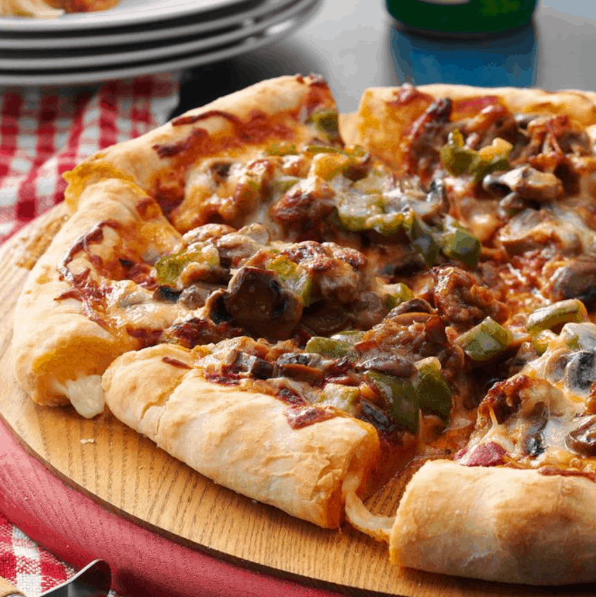 Cheese Crust Sausage Pizza