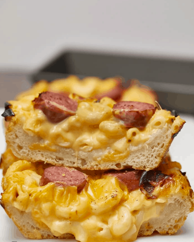 Cheesy Mac & Cheese Pizza – Thekitchenwhisperer.net