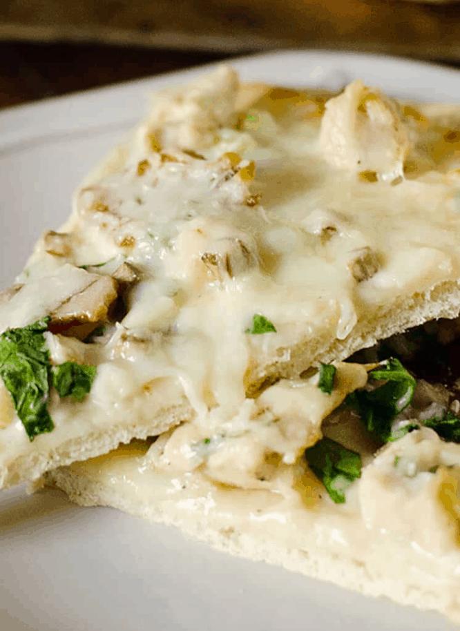 Chicken Alfredo Cheese Crust Pizza