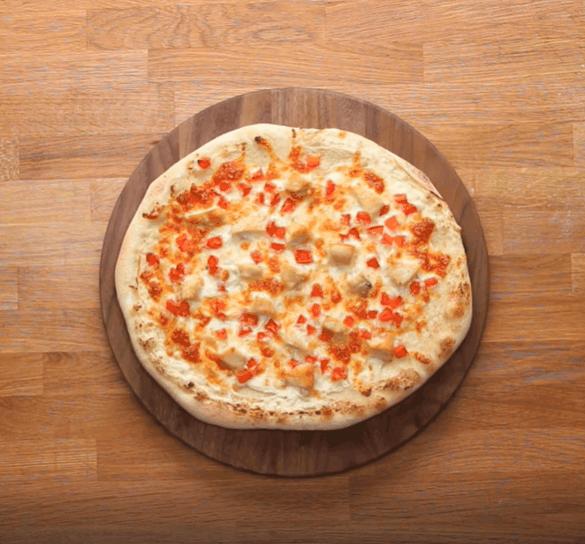 Chicken Alfredo Pizza from Tasty