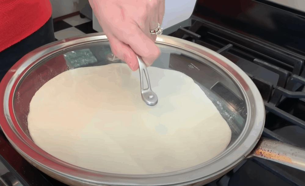 Cook the pizza dough