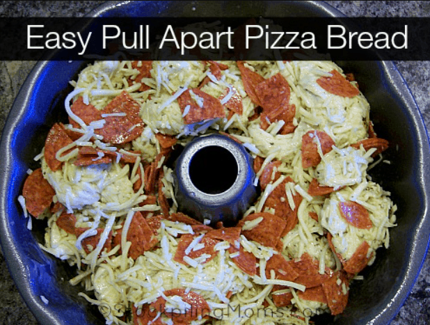 Easy Pull-Apart Pizza Bread from Stockpiling Moms