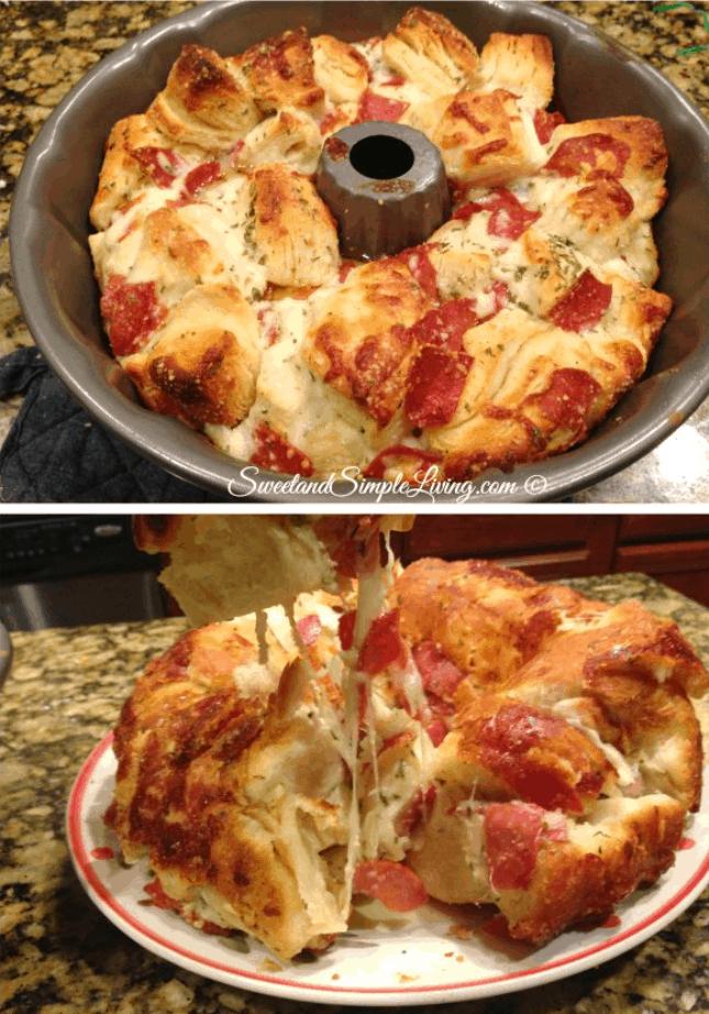 Easy Pull-Apart Pizza Bread