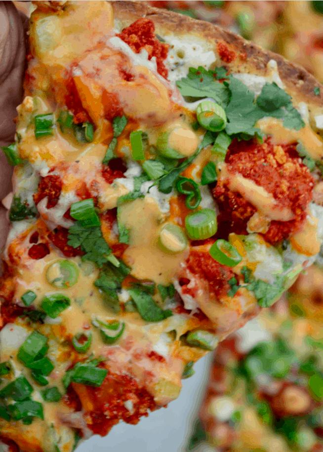 Flamin' Hot Buffalo Cauliflower Pizza