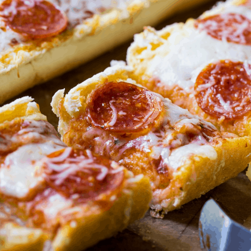 Garlic Bread Pizza by Spicy Southern Kitchen