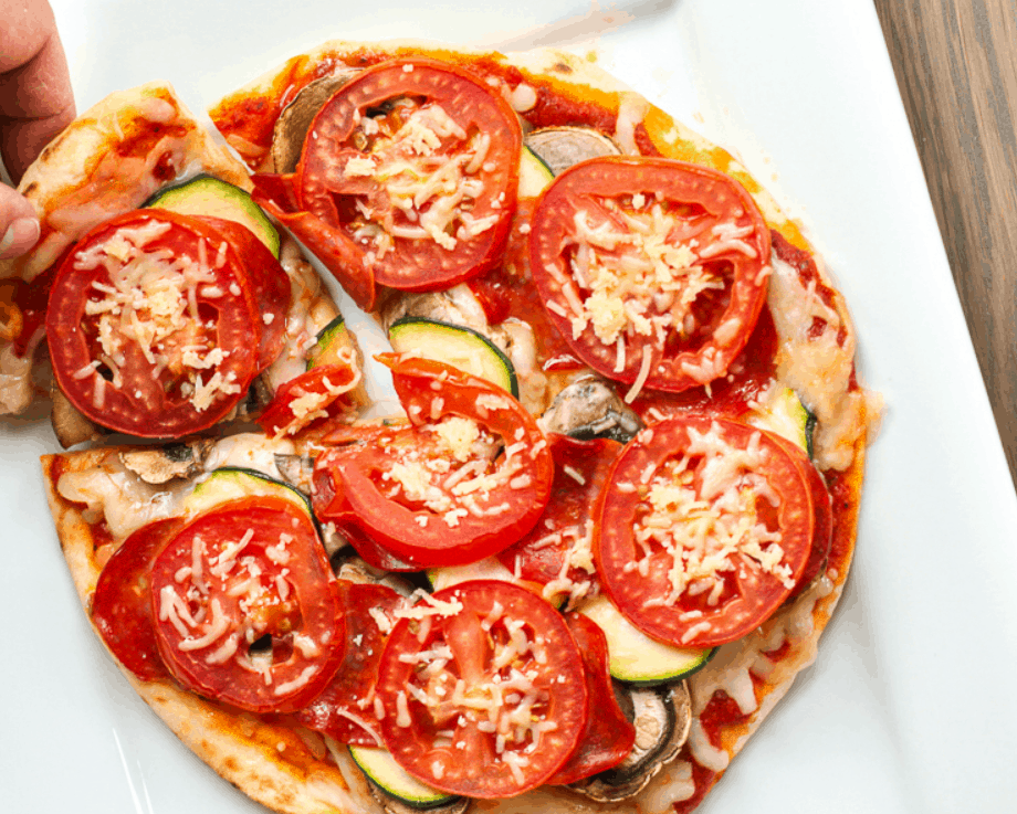 Healthy Pizza (only 350 calories)