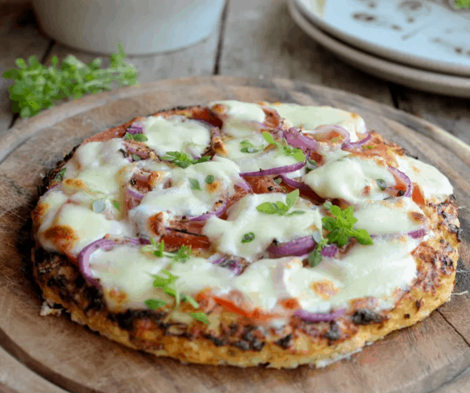 LOW-CALORIE CAULIFLOWER CRUST PIZZA GLUTEN FREE, PALEO AND 52 DIET PIZZA RECIPE