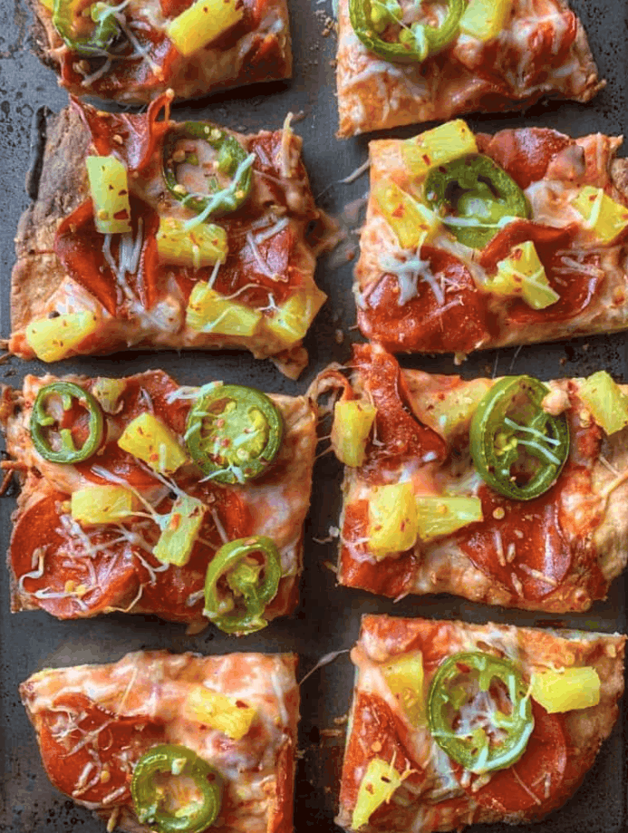 Low-calorie Pepperoni Pizza