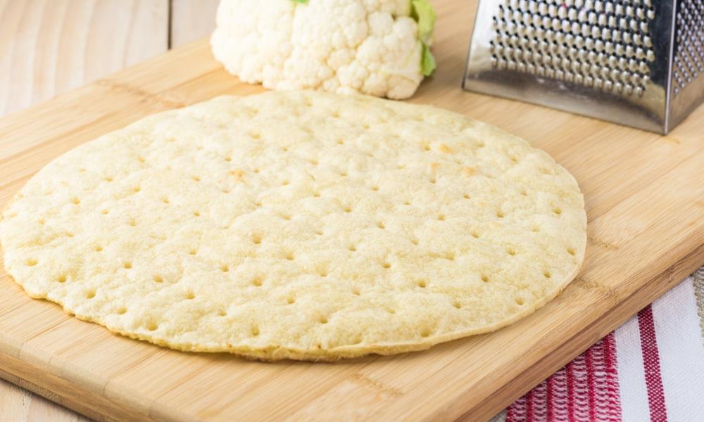 Making your own cauliflower pizza crust