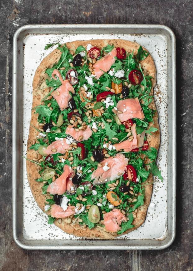 Mediterranean Flatbread Pizza Tray