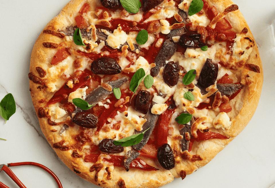 Mediterranean Goat Cheese Pizza