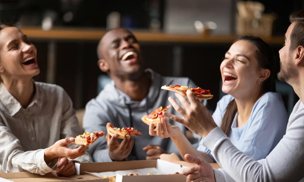 Pizza Produces Endorphins