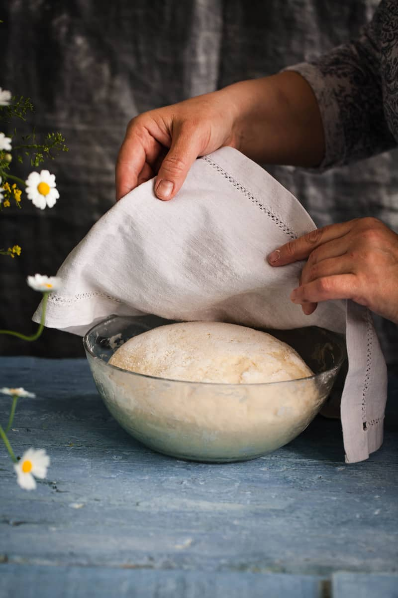 Place the dough in a warmer location