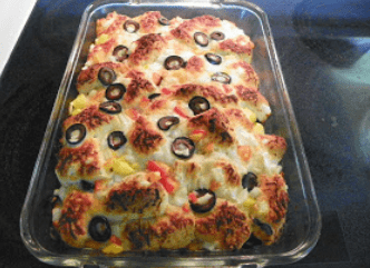 Pull-Apart Garlic Monkey Supreme Pizza Bread