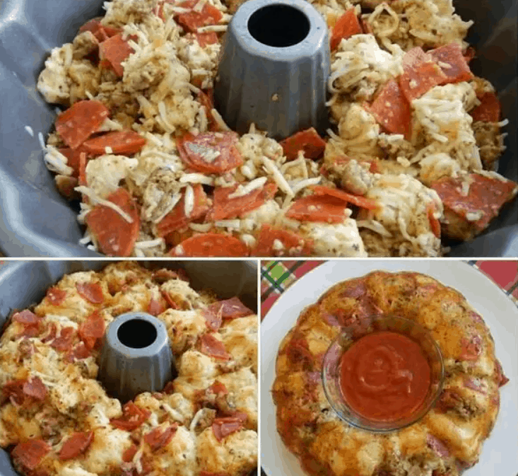 Pull-Apart Pizza Bread from Just a Pinch