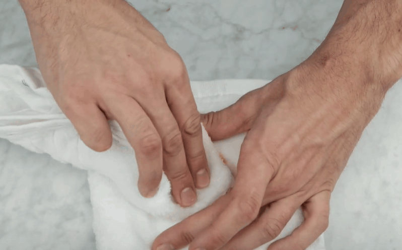 Rub the Stain With An Ice Cube