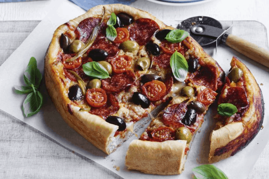 Slow Cooker Deep Dish Pizza from Taste