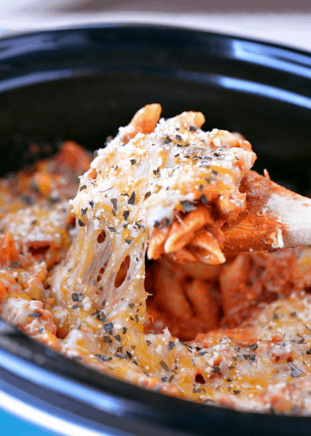 Slow Cooker Pizza Casserole – The Gunny Sack