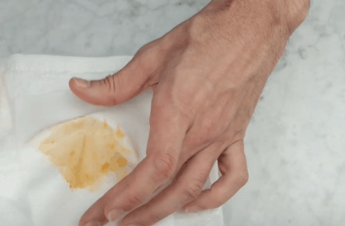 Soak the Stained Area in Water