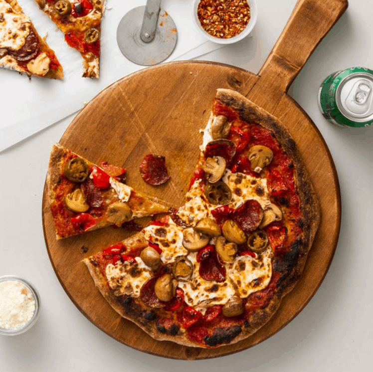 Spicy Mediterranean Pizza