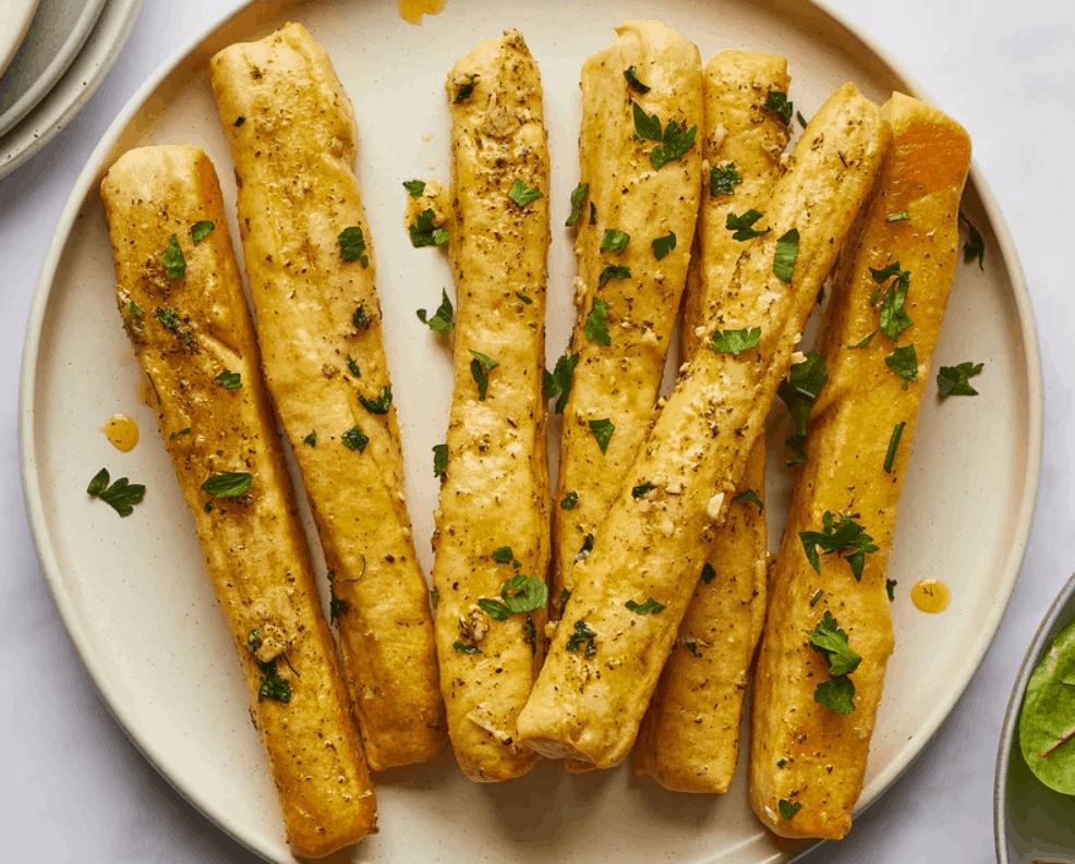 Spruce Garlic Breadsticks