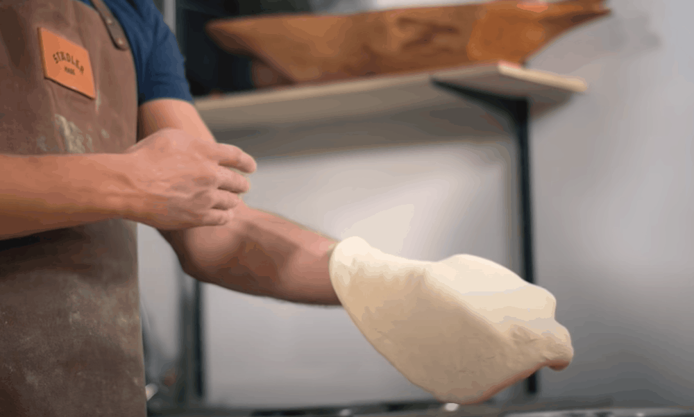 Stretch the dough