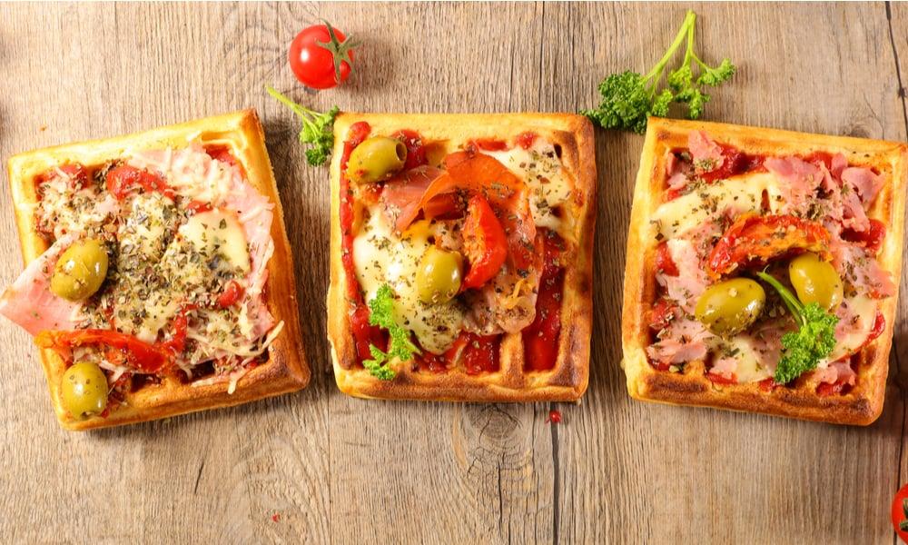 Sun-dried Tomato Waffle Pizza