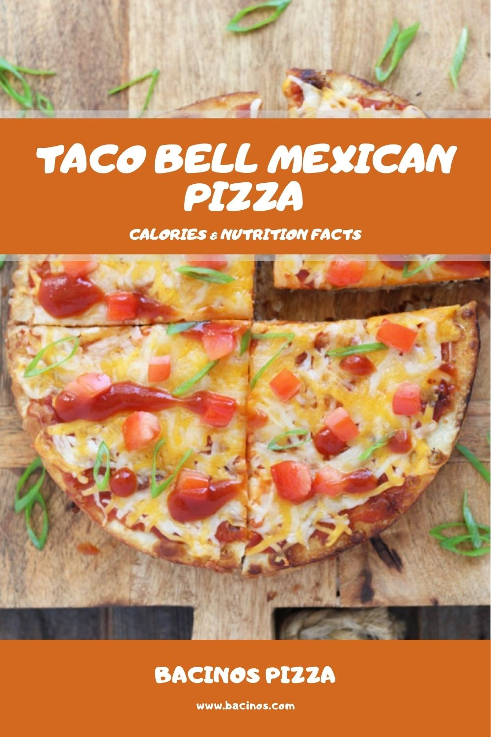 Taco Bell Mexican Pizza Calories & Nutrition Facts (Chart) 2