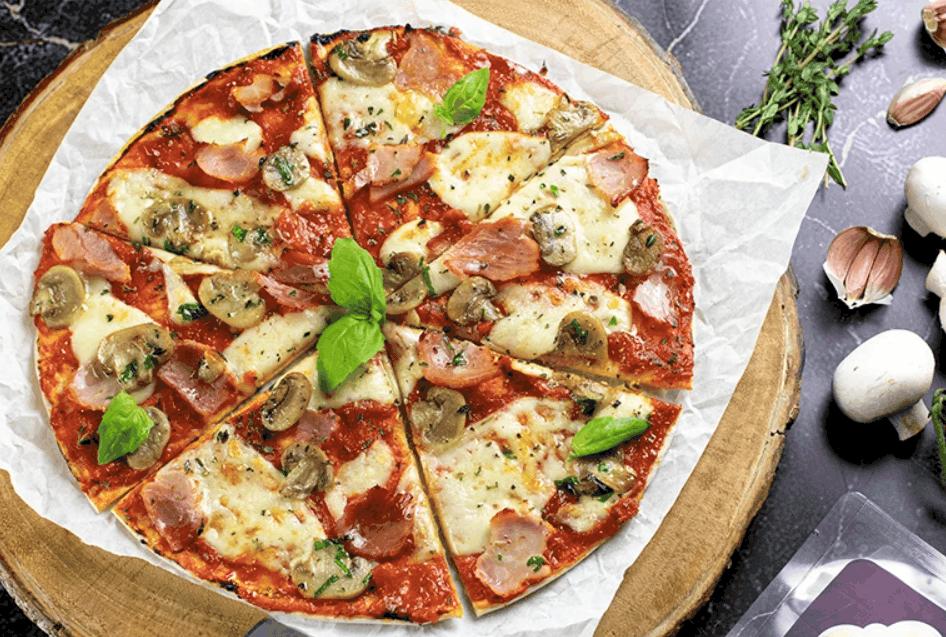 The 170 Calorie Ham & Mushroom Pizza