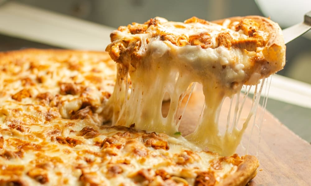 The cheesy topping