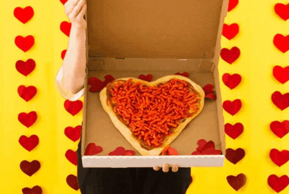 Valentine's Day Flamin' Hot Cheetos Pizza Recipe