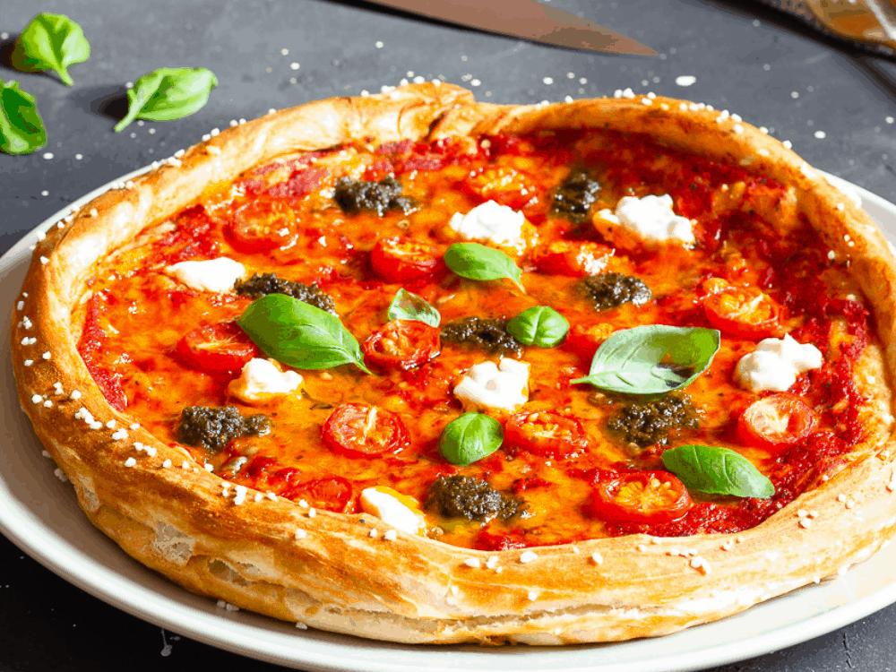 Vegan Soft Pretzel Crust Pizza