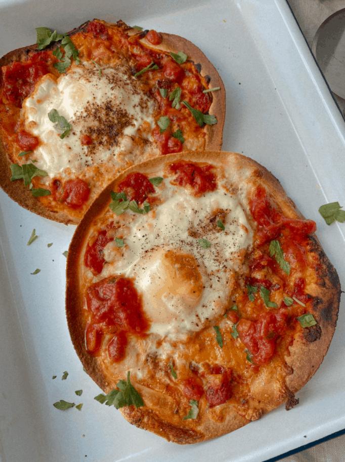 Breakfast Tortilla Pizza