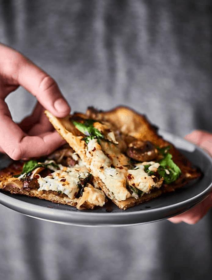 Caramelized Onion + Mushroom Pizza