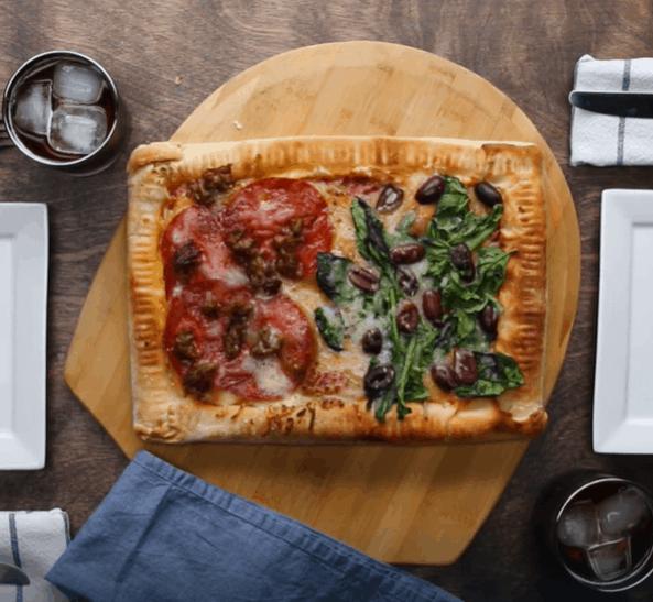 Double-Stuffed Pan Pizza