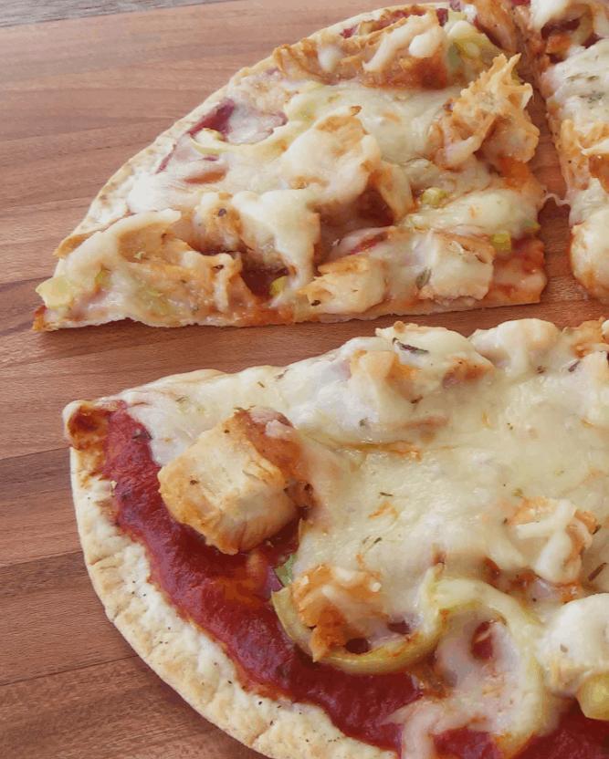 Easy Tortilla Pizza