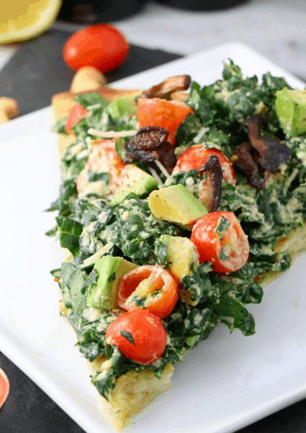 Gabrielle St. Claire's Vegan Kale Pizza