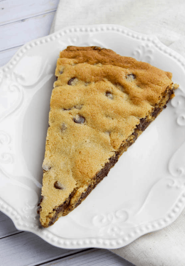 Giant Chocolate Chip Cookie Pizza Recipe – Happy Hooligans
